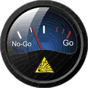 Concept image of go/no-go test